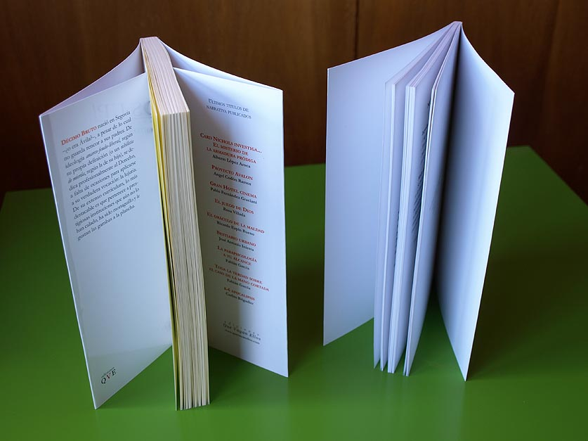 Libro con solapas y sin solapas (abiertos y offset).