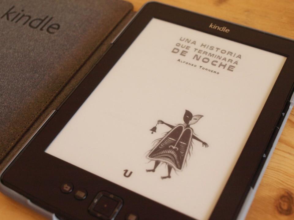 Foto de la portadilla interior de un ebook, reproducida en un dispositivo Kindle.