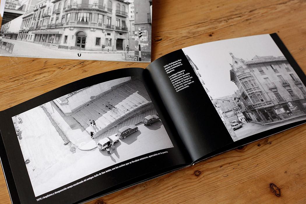 Foto del interior de un libro de fotografía en Blanco y Negro para apreciar las calidades de imprenta que usamos en ese tipo de obras.