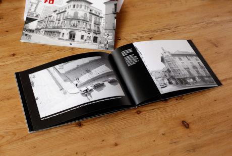 Foto del interior de un libro de fotografía en Blanco y Negro para apreciar la maquetación.
