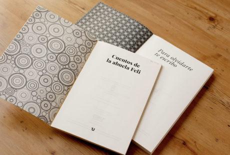 """Foto de dos ejemplos de """"falsa"""" guarda en sendos libros, impresas en blanco y negro."""