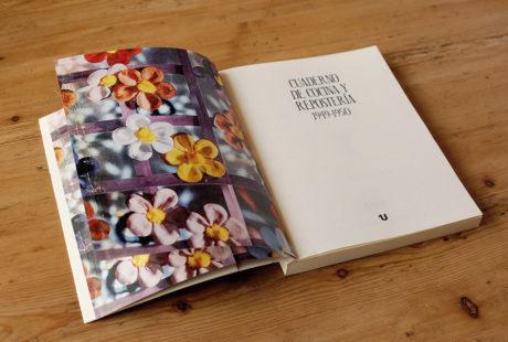 """Foto de la """"falsa"""" guarda de un libro impresa en color."""